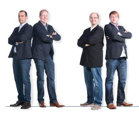 Abteilungsleiter Finanzen Dr. Siad Esber, Abteilungsleiter Spielbetrieb Joachim Kiep, 2. Abteilungsleiter Wilfried Ehmann, Leiter Werbung Jens Jassner