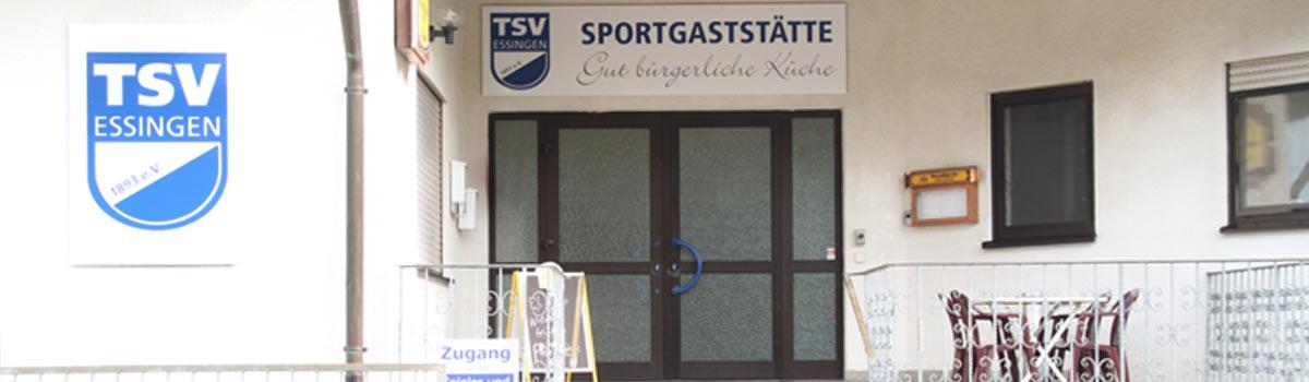 Eingang zum TSV Vereinsheim