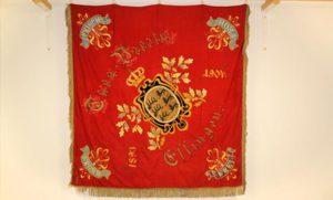 Rote Fahne des TV Essingen von 1904