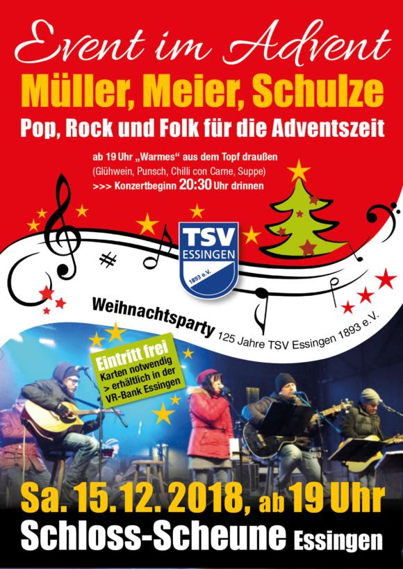 TSV Plakat Weihnachtskonzert 2018 Event im Advent