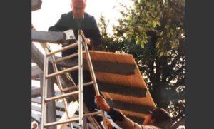 1995 Bau der neuen Tennishütte 01
