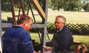 1995 Bau der neuen Tennishütte 03