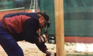 1995 Bau der neuen Tennishütte 04