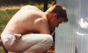 1995 Bau der neuen Tennishütte 05