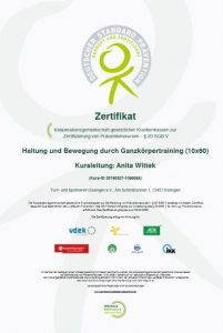 Zertifikat Präventionskurs