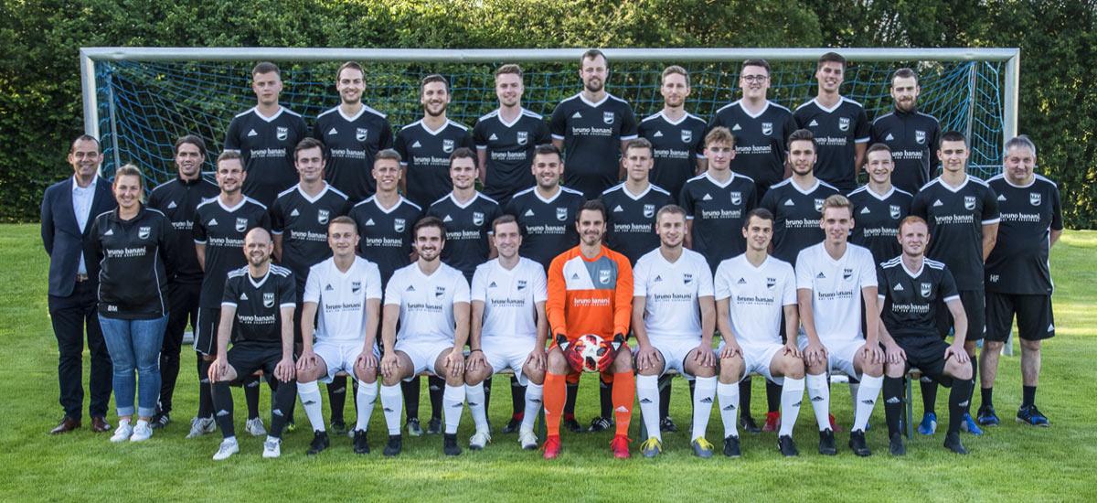 Mannschaftsbild der 2. Fußballmannschaft der Herren 2019/20 des TSV Essingen