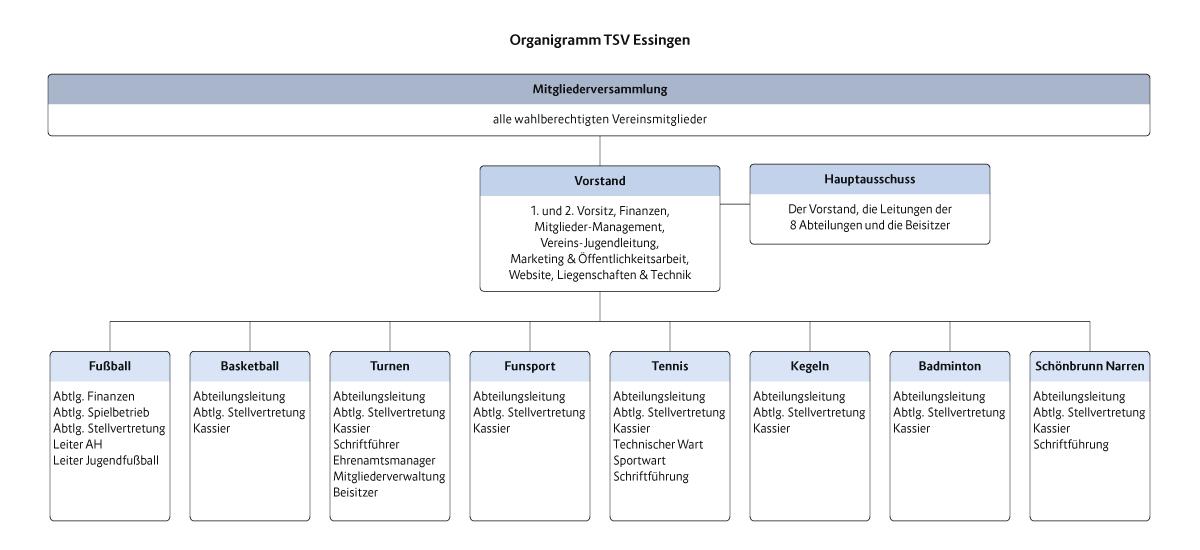 Organigramm des TSV Essingen