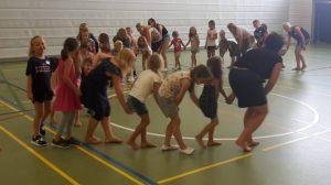 Actionsfoto beim Kinderferienprogramm