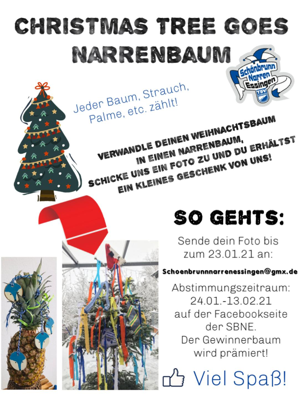 Christmastree goes Narrenbaum