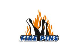 TSV Abteilungslogo Kegeln Fire Pins klein