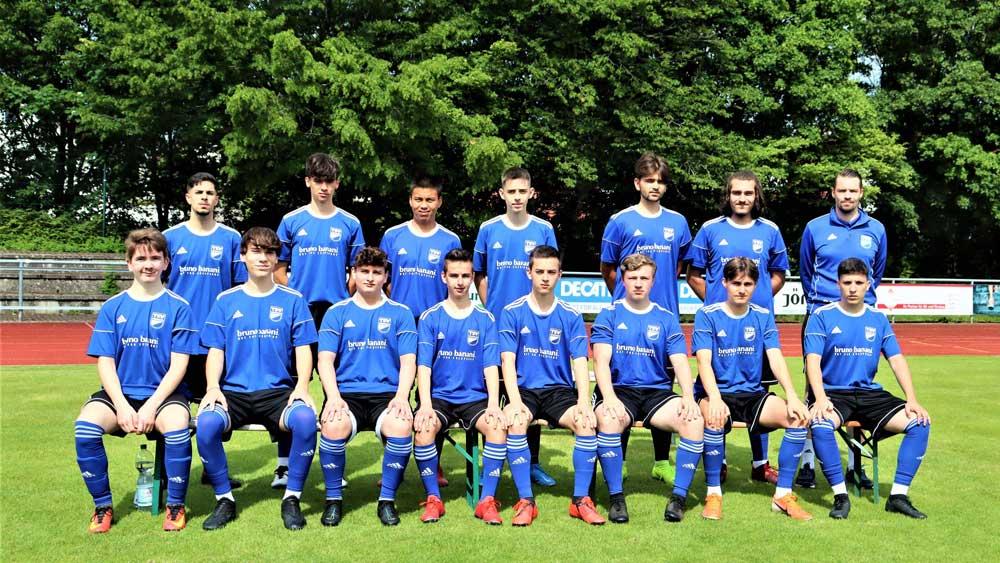 Mannschaftsbild der A Jugend Saison 2021-2022